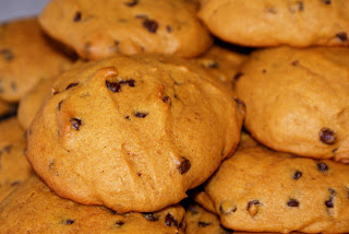 World's Easiest Pumpkin Chocolate Chip Cookies