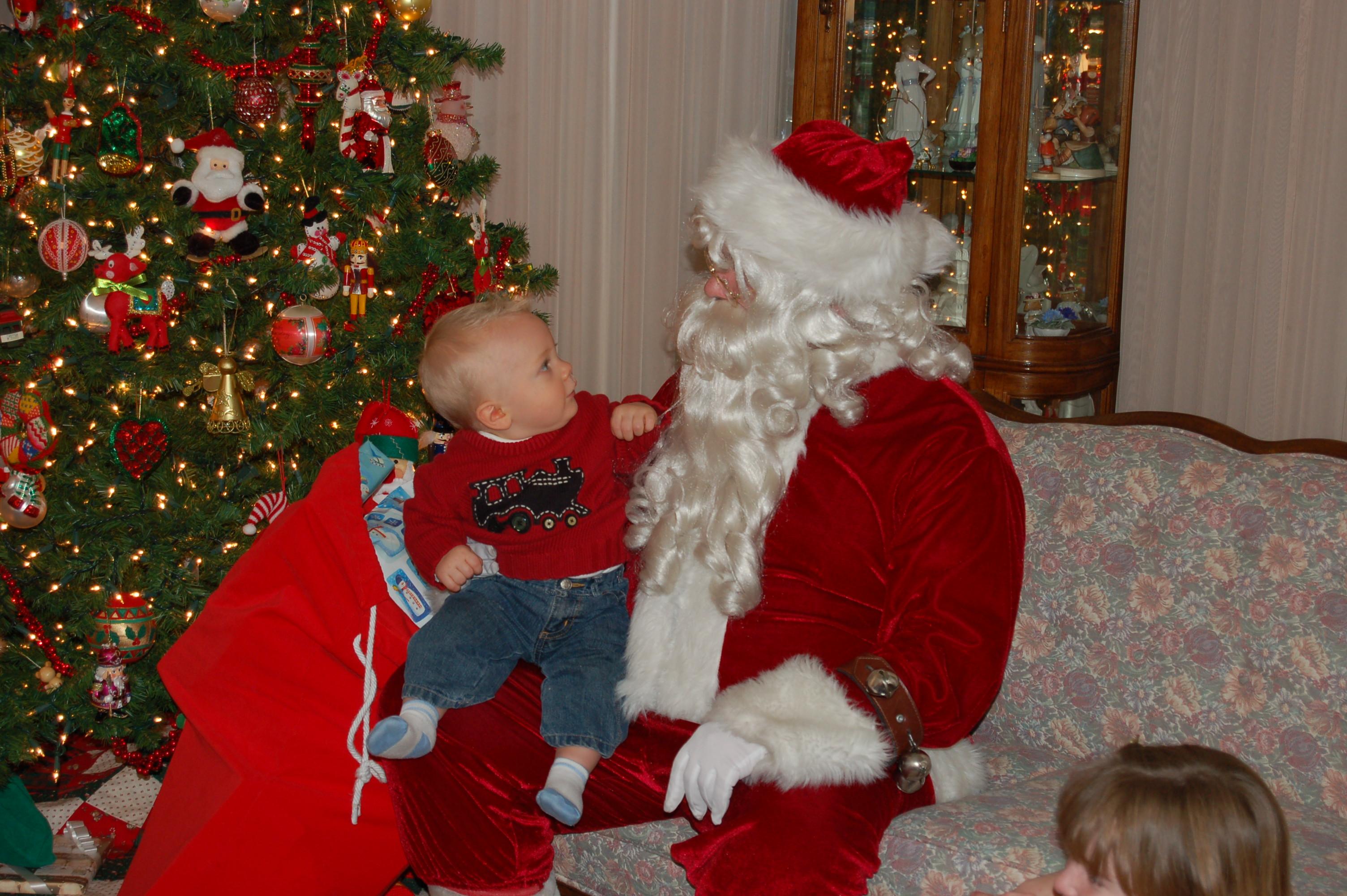 Celebrating with Santa