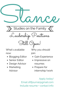 STANCE Leadership Positions Open
