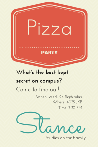 Stance- Pizza Party, Sept 24