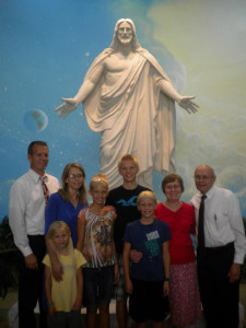 family with Christ