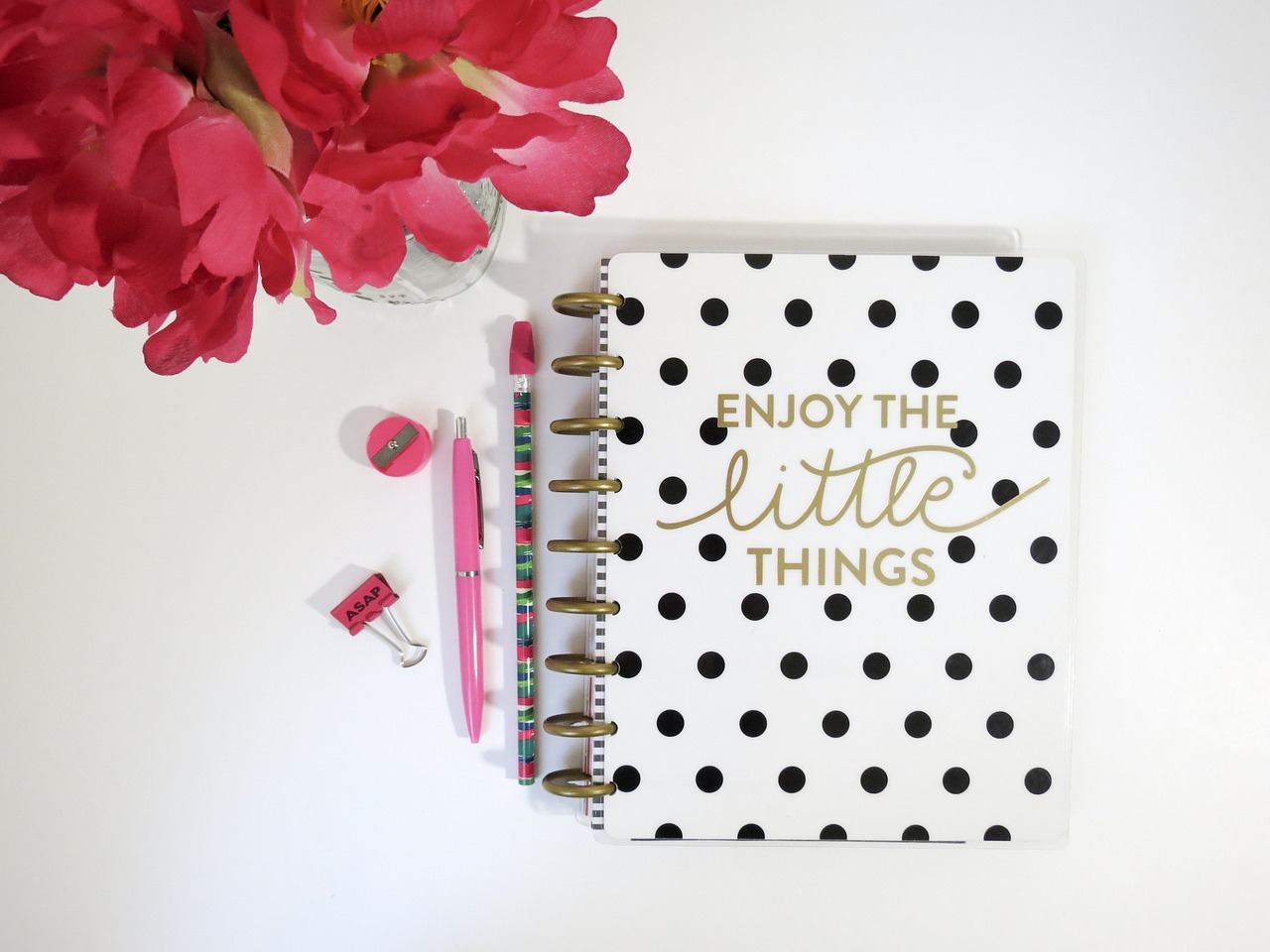a black and white planner