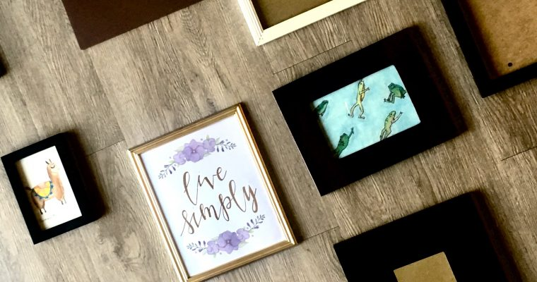 DIY Frames and Watercolors