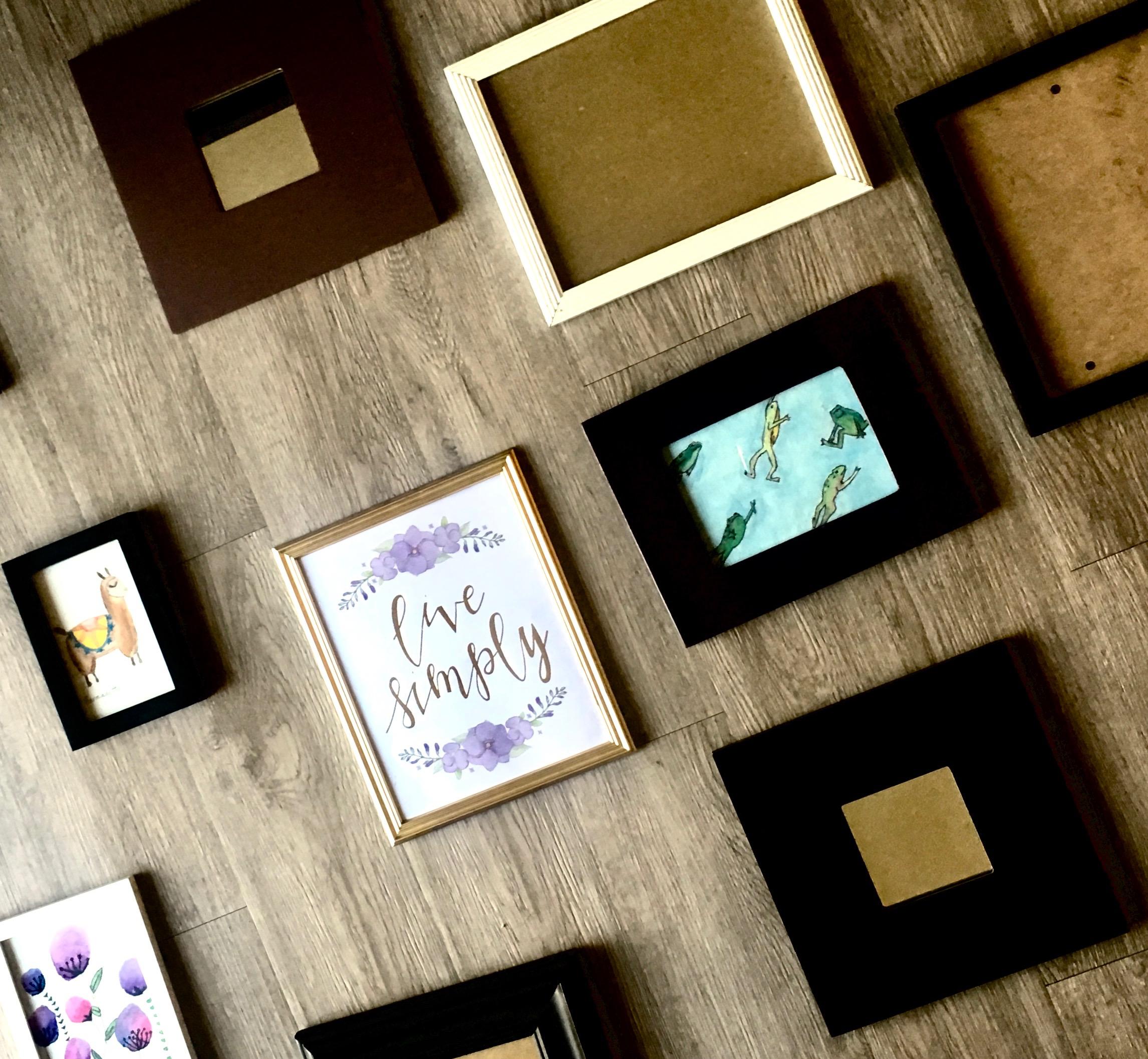 DIY Frames and Watercolors